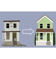 House remodelling vector image vector image