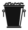 ice metal bucket icon simple style vector image vector image