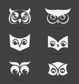 image an owl face design on black background vector image vector image