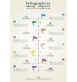 Infographics timeline element layout vector image