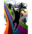jumping man summer background vector image