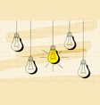 light bulb icon with concept of idea vector image vector image