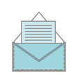 line color e-mail letter message with business vector image