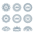 Lotus Beauty and Care logo set vector image