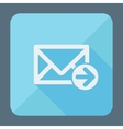 Mail icon envelope with arrow Flat design vector image vector image