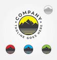 mountain water logo vector image vector image