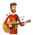 musician or guitarist plays the melody vector image
