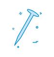 nail tools icon design vector image