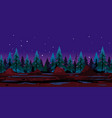 night forest game background vector image