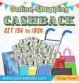 online shopping cashback promotion banner vector image