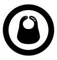 personalized bib icon black color in circle round vector image vector image