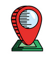 pointer map navigation location vector image vector image