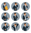 qualitative isometry 3d avatar business men vector image vector image