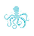 sea life octopus hand drawn vector image vector image