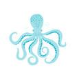 sea life octopus hand drawn vector image