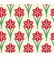 seamless pattern christmas amaryllis vector image vector image