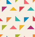 Seamless Pattern with Colorful Triangle vector image vector image