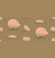 seamless pattern with pigs vector image