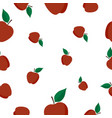 seamless pattern with red apple vector image