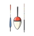 Set of fishing floats vector image vector image