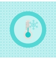 Termometer with snowflake flat icon vector image vector image