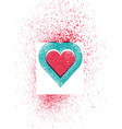 valentine greeting card heart stencil splash vector image