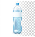 water in the plastic bottle vector image vector image
