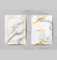 wedding invitation cards save the date marble vector image vector image