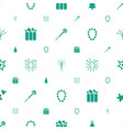 xmas icons pattern seamless white background vector image vector image