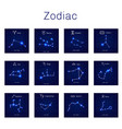 zodiac constellations set vector image vector image