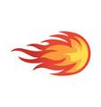 abstract fire ball logo icon vector image