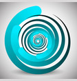 abstract spinning swirling element editable vector image