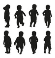 action kids silhouette vector image vector image
