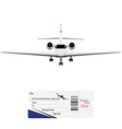 Airplane and ticket vector image vector image