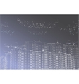 architectural gray urban background vector image vector image