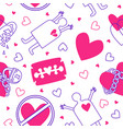 background with a love pattern vector image vector image