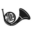 bass trumpet icon simple style vector image