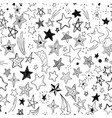 beautiful seamless pattern hand drawn doodle stars vector image vector image