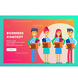 business concept new dream team vector image vector image