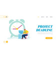 businessman working process website landing page vector image vector image