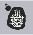 cake sweet cake in a speech bubble vector image vector image