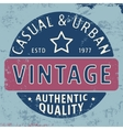 Casual urban vintage stamp vector image vector image