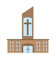 catholic church building icon design vector image