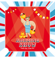 Circus card with strongman vector image vector image