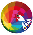 color spectrum paints vector image