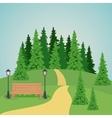 Colorful park landscape design vector image