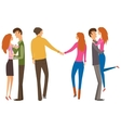 couple lovers collection vector image