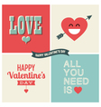 design elements valentine day set one vector image vector image