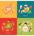 Digestion Concept Icons Set vector image vector image