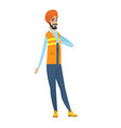 disappointed hindu builder with thumb down vector image vector image